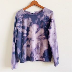Universal thread bleach tie dye sweater